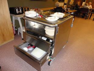 Meal Warming Cart