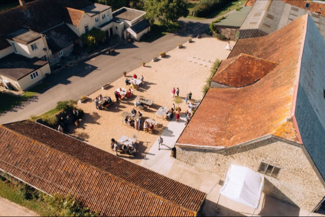 Aerial View of The Barn