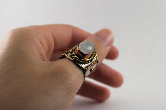 Tri-tone Metal Crafted Rings