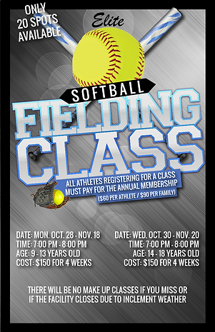 Softball fielding class session 1 2019-0