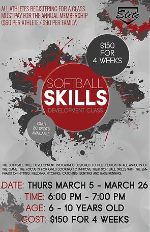 softball skills development session 5 cl