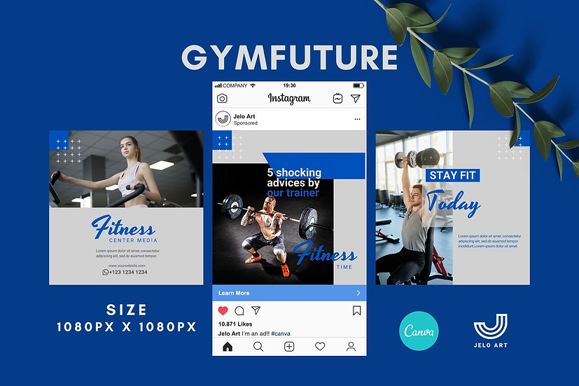Gymfuture - 210 Canva Templates Instagram For Fitness - Gym
