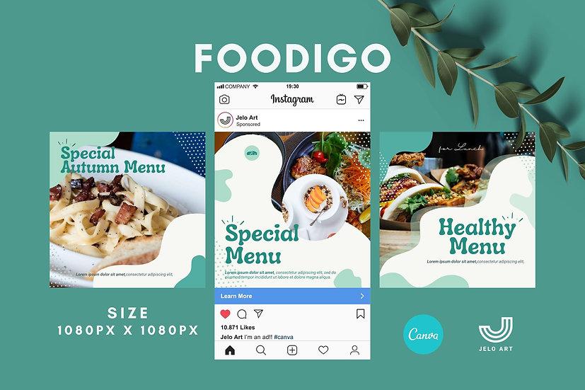 Foodigo - 210 Canva Templates Instagram For Food