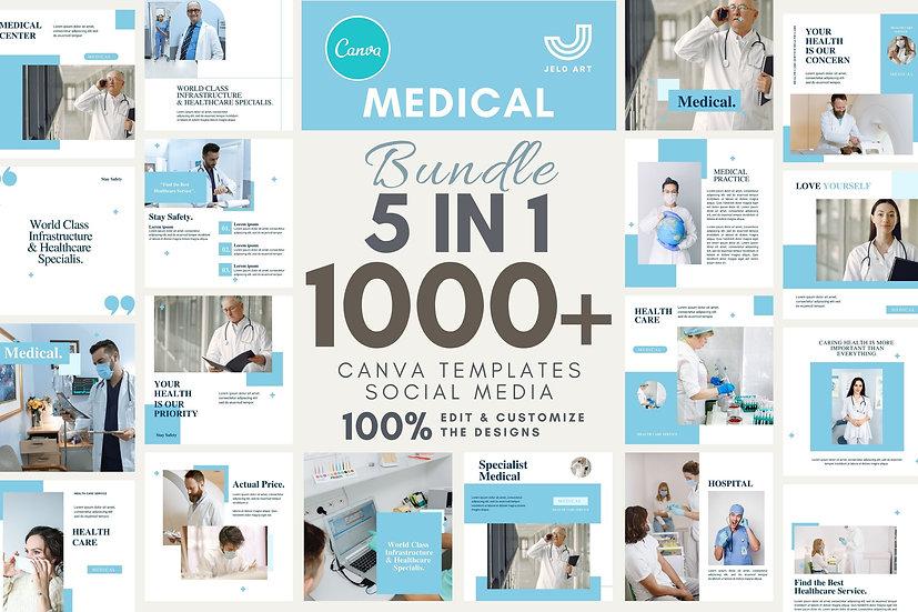1000+ Canva Template Instagram Bundle For Health Medical