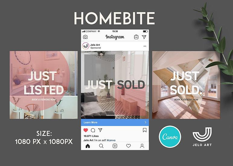 Homebite - 210 Canva Templates Instagram For Real Estate