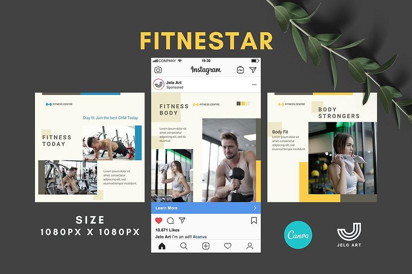 Fitnestar - 210 Canva Templates Instagram For Fitness - Gym