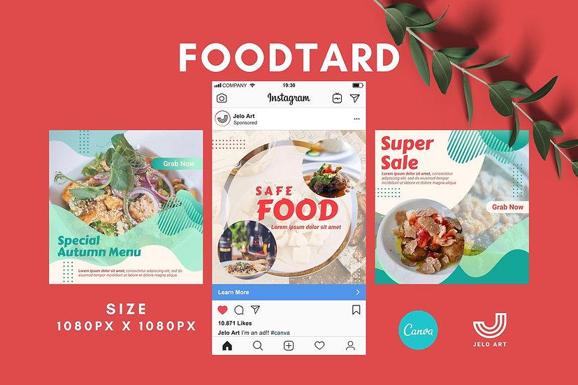 Foodtard - 210 Canva Templates Instagram For Food