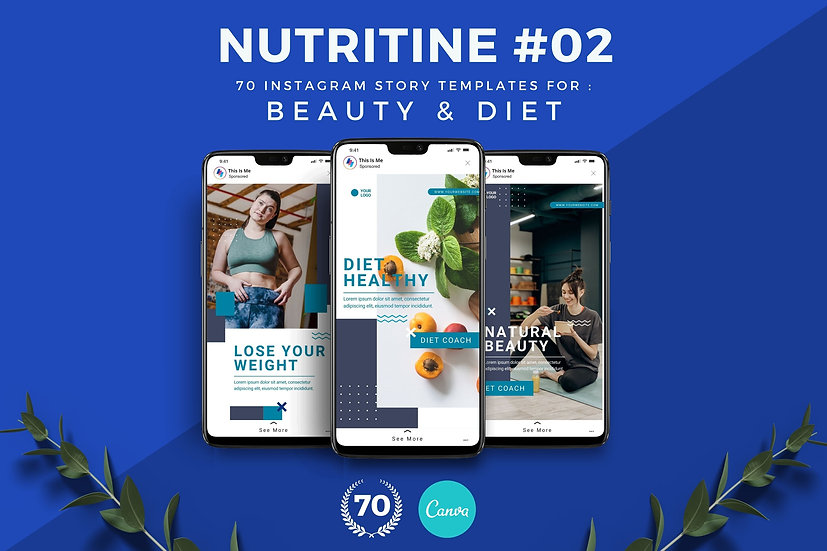 Nutritine 02   70 Canva Template Instagram Story for Beauty and Diet
