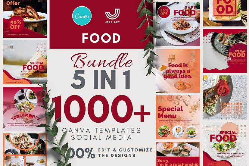 1000+ Canva Template Instagram Bundle For Food