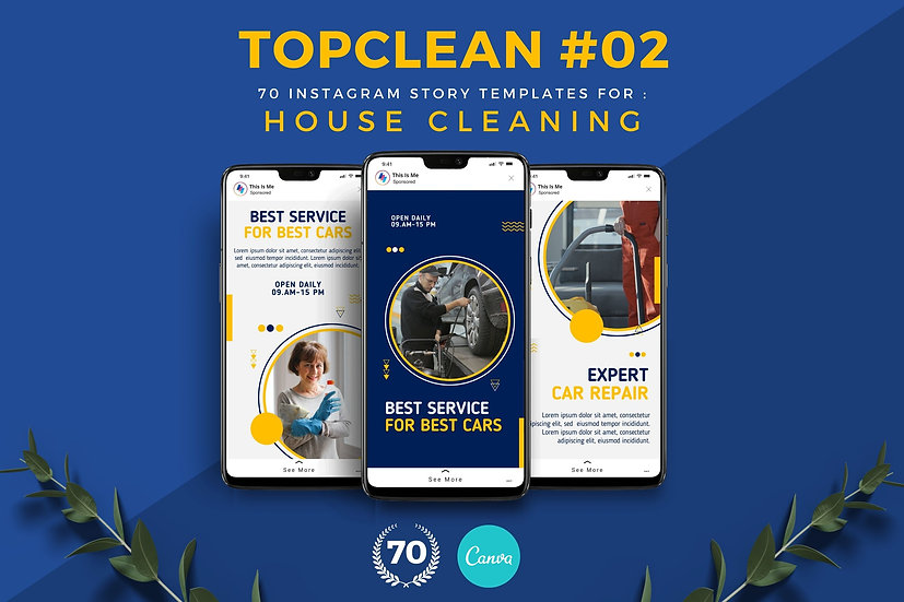 Topclean 02   70 Canva Template Instagram Story for House Cleaning