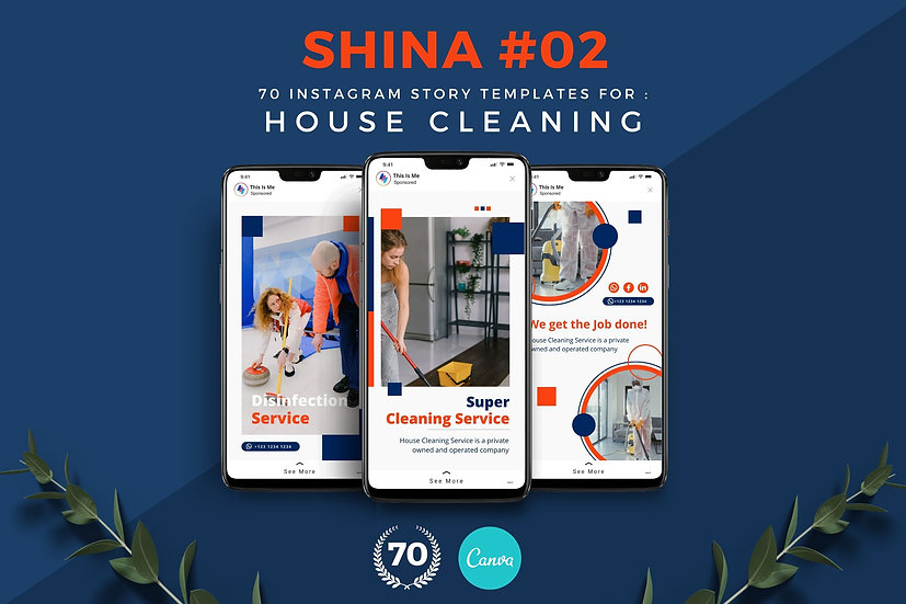 Shina 02   70 Canva Template Instagram Story for House Cleaning