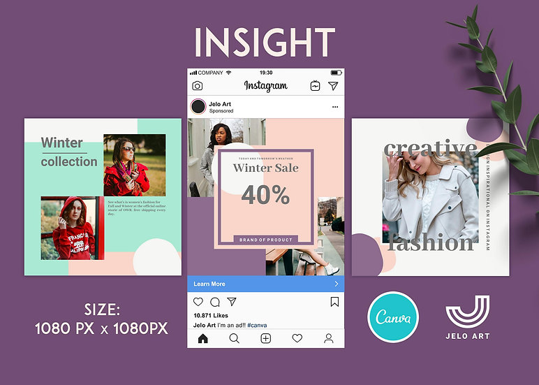Insight - 210 Canva Templates Instagram For Fashion