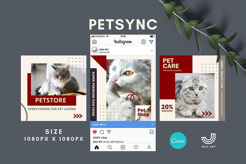 Petsync - 210 Canva Templates Instagram For Pets