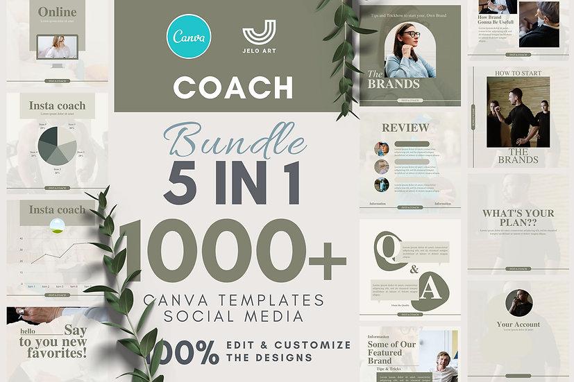 1000+ Canva Template Instagram Bundle For Coach - Content Creator & Mentor