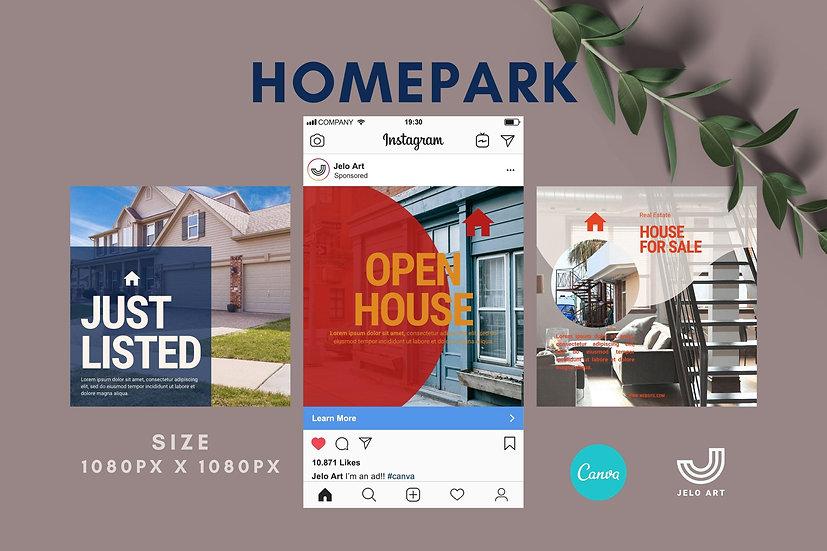 Homepark - 210 Canva Templates Instagram For Real Estate