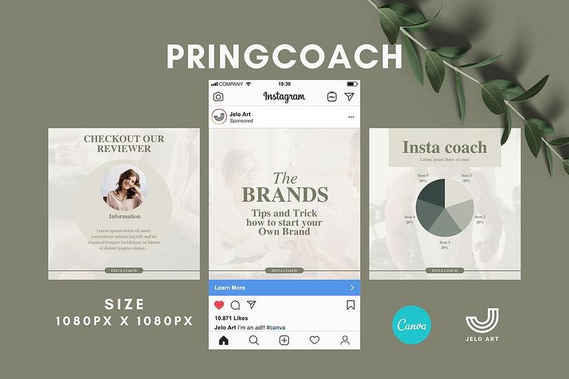 Pringcoach - 210 Canva Templates Instagram For  Coach - content creator & mentor