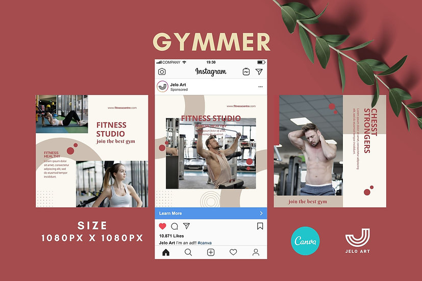 Gymmer - 210 Canva Templates Instagram For Fitness - Gym