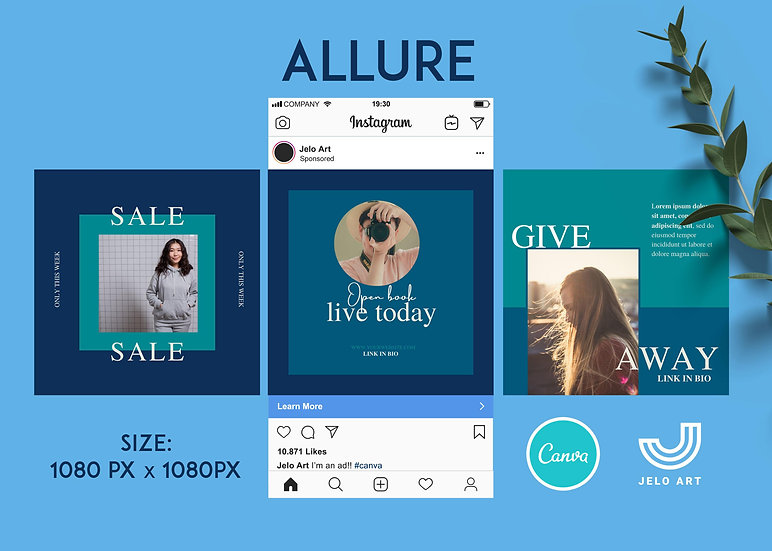 Allure - 210 Canva Templates Instagram For Fashion