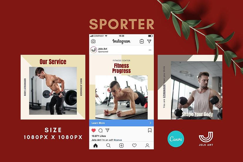 Sporter - 210 Canva Templates Instagram For Fitness - Gym