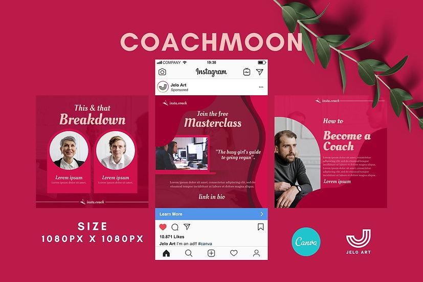 Coachmoon - 210 Canva Templates Instagram For Coach - content creator & mentor