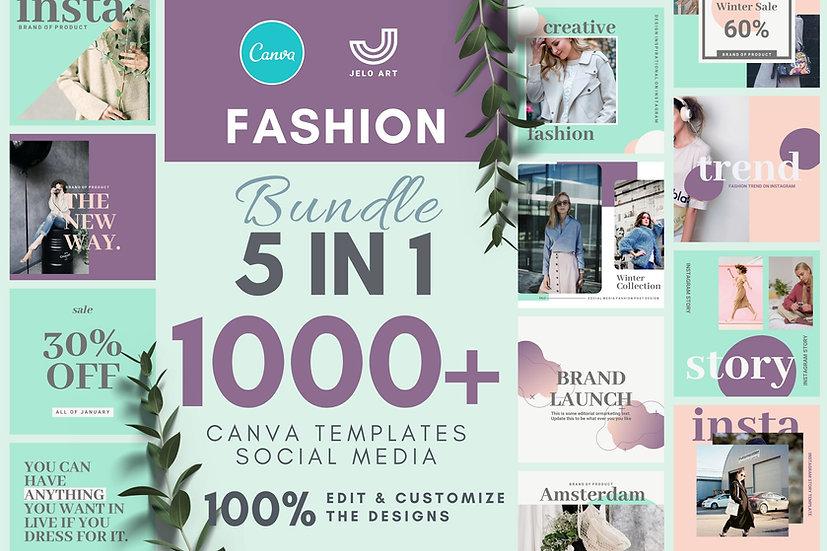 1000+ Canva Template Instagram Bundle For Fashion