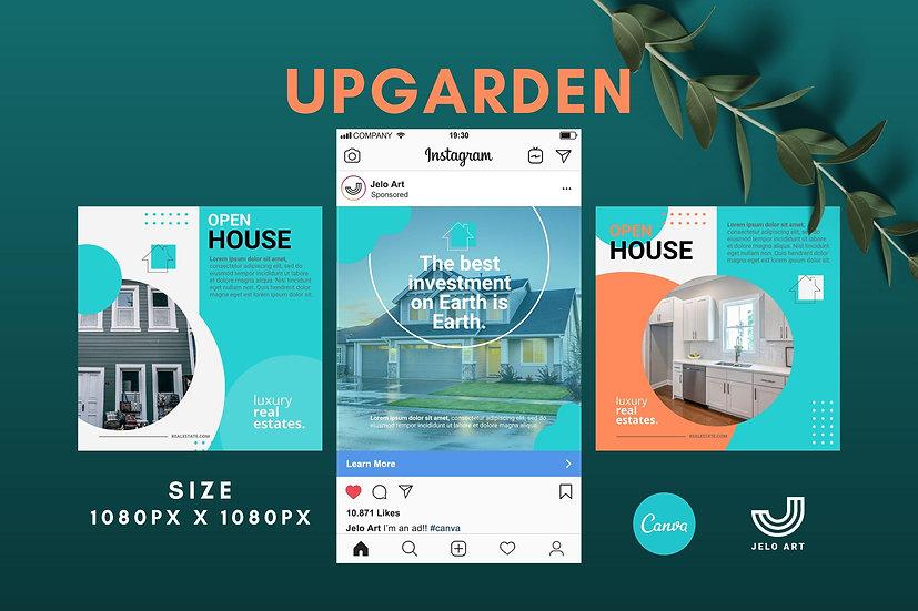 Upgarden - 210 Canva Templates Instagram For Real Estate