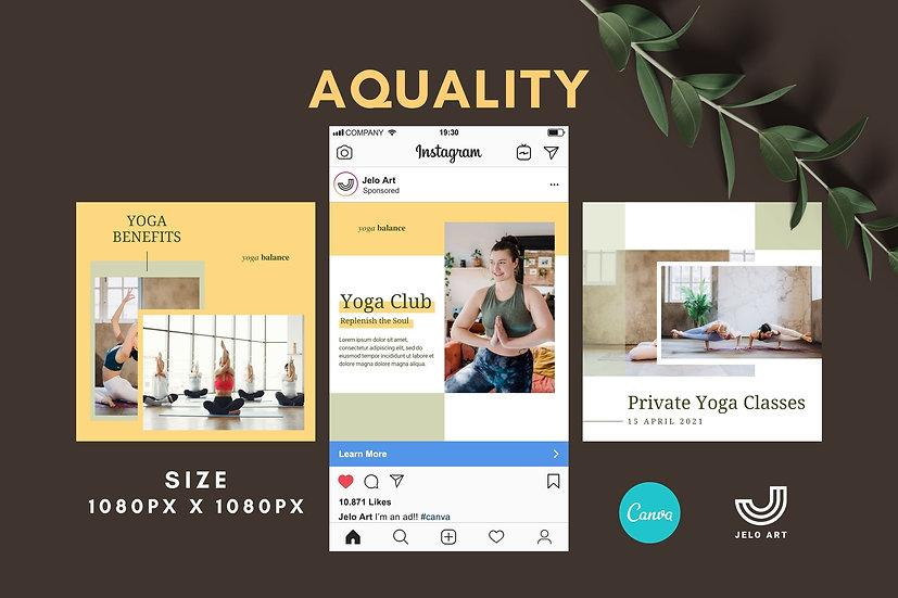 Aquality - 210 Canva Templates Instagram For Yoga - Meditation