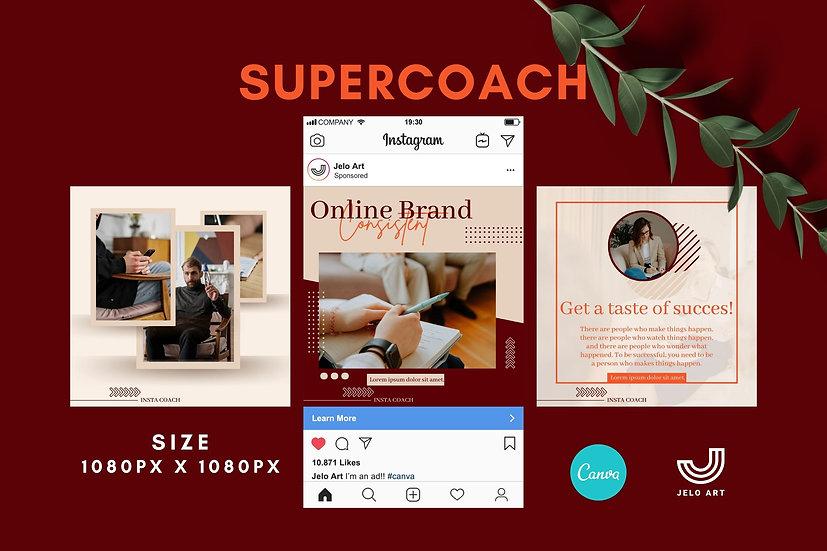 Supercoach - 210 Canva Templates Instagram For Coach - content creator & mentor