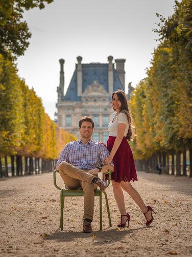 Couple jardin Paris