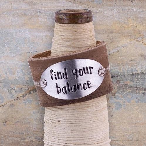 FIND YOUR BALANCE BRACELET CUFF