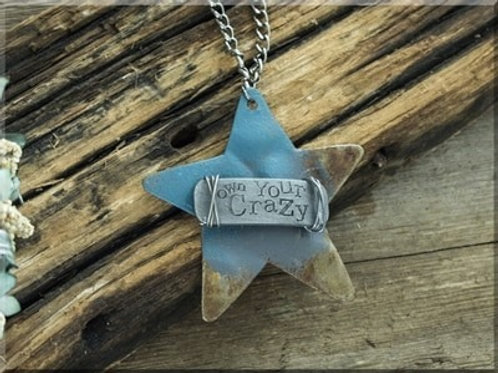 OWN YOUR CRAZY WIDE STAR NECKLACE