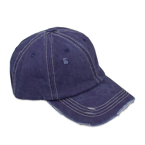 DISTRESSED NAVY UNISEX BASEBALL CAP