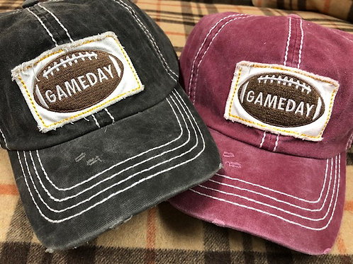 GAME DAY BASEBALL CAP / IN VARIOUS COLORS