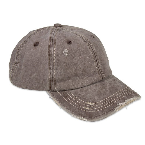 DISTRESSED COFFEE UNISEX BASEBALL CAP