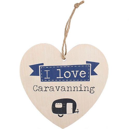 I Love Caravanning Hanging Heart