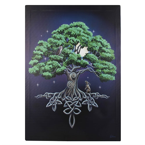 50X70CM TREE OF LIFE CANVAS PLAQUE BY LISA PARKER