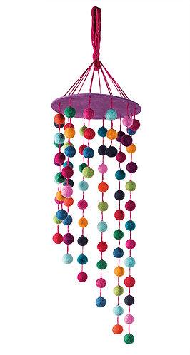 Rainbow Felt Ball Mobile Decoration