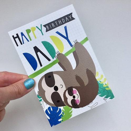 Daddy Birthday Sloth Card