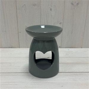 Grey Heart Ceramic Wax Melter