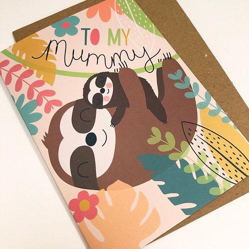Mummy Sloth Card