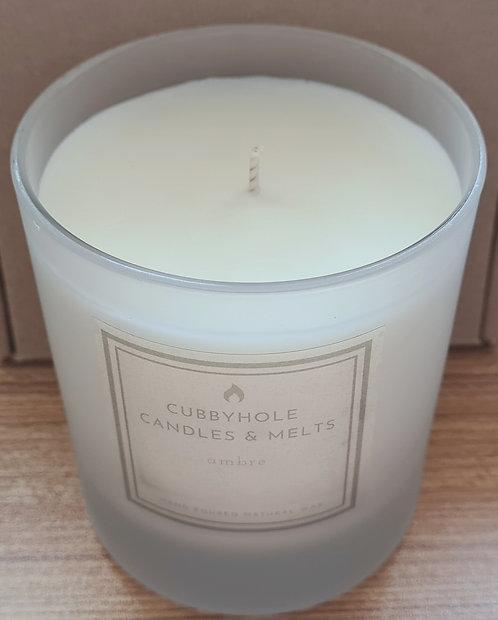 Large Ambre Natural Wax Candle