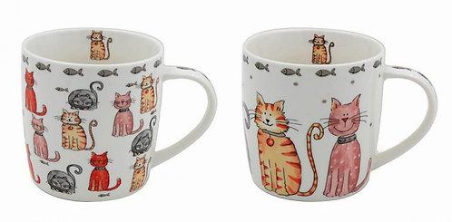 Illustrated Cat Mugs