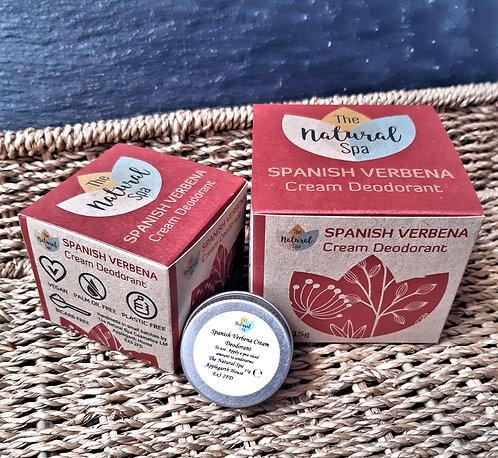 Cream Deodorant - Spanish Verbena - Medium Jar