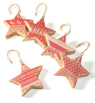 Hanging Wooden Star Decoration