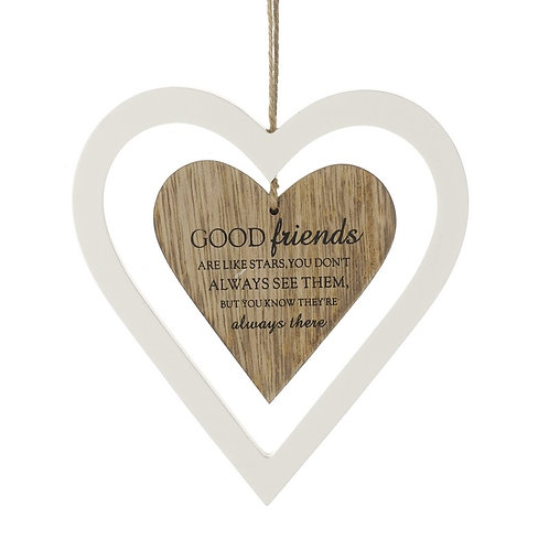 Hanging Heart Decoration - Good Friends..