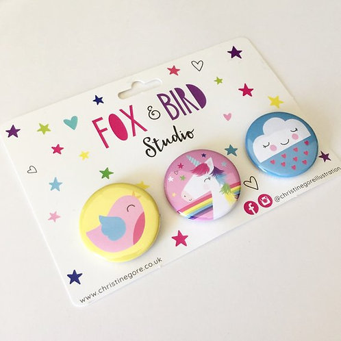 Unicorn Badge Set