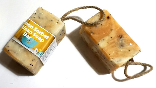 Lemon Sorbet Soap on a Rope