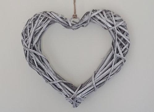 Woven Rattan Heart - 30cm