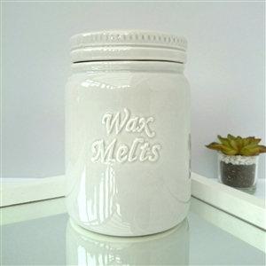 Wax Melts Ceramic Storage Jar - Light grey