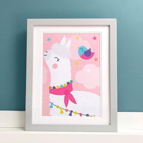 Alpaca/Llama - A4 Art Print
